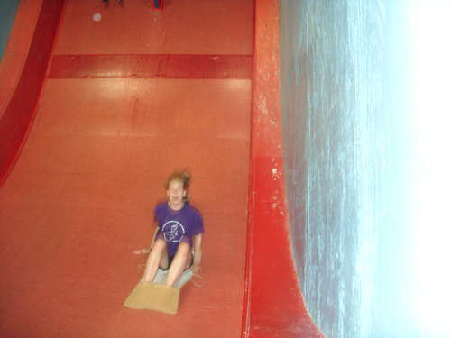 Georgie on the drop slide ( AAAAARRGGGHHH!!!!!!)